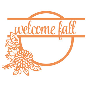welcome fall chrysanthemum wreath