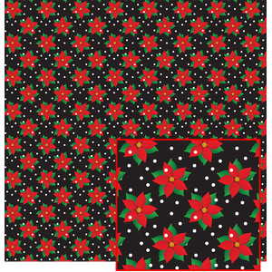 poinsettias on black pattern