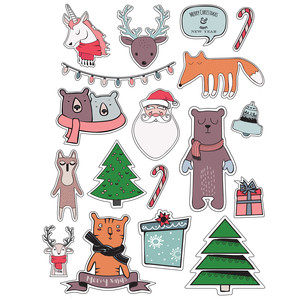 ml christmas toons stickers