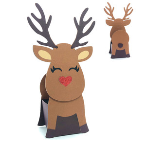 3d christmas reindeer box