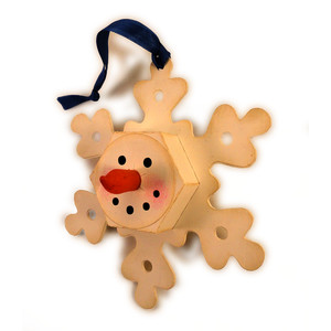 snowflake tea light face ornament