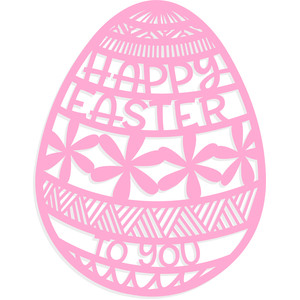 happy easter floral egg