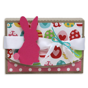 chocolate dollop holder with bunny