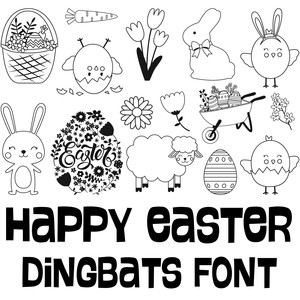 happy easter dingbats font