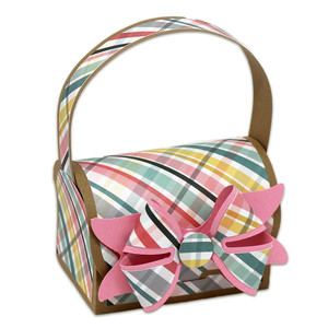 handled gift bag with 3d paper bow