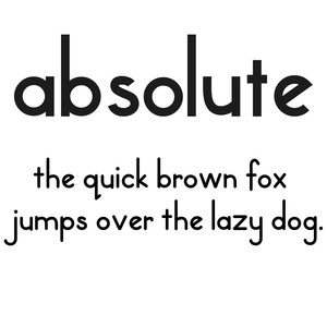 cg absolute font