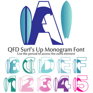 qfd surf's up monogram font