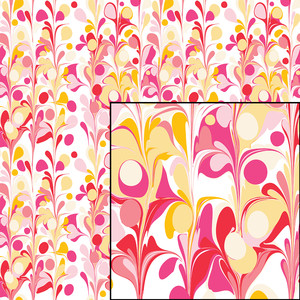 fruity drops seamless marbled pattern