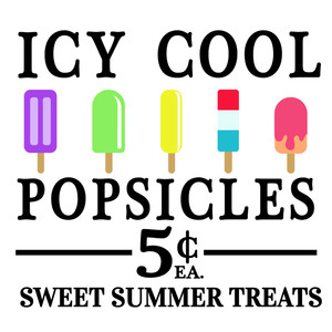 icy cool popsicles sign