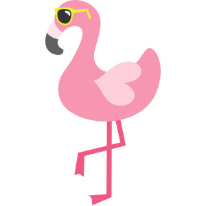 flamingo and sunglasses