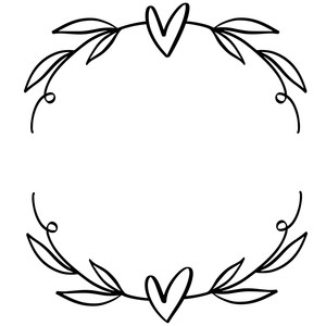 heart wreath with leaves