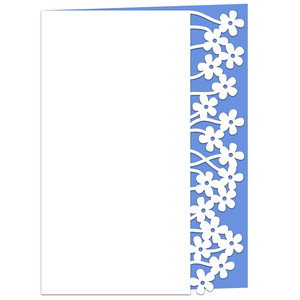 tangled flowers lace edged card