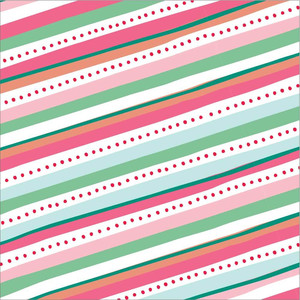 holiday stripe and dot pattern