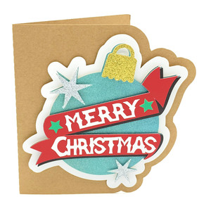 merry christmas ornament card