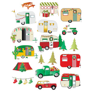 christmas camper stickers