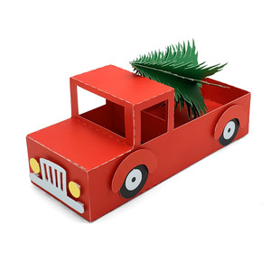 3d pickup truck with christmas tree