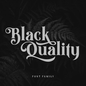 black quality font family