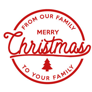 our family merry christmas label & tag