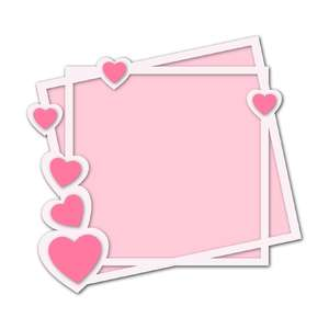 hearts square frame