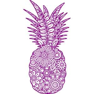 pineapple mandala zentangle