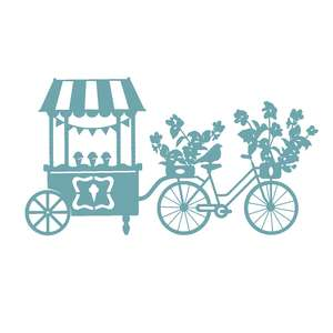 flower bike and cart