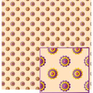 flowers on tan background pattern