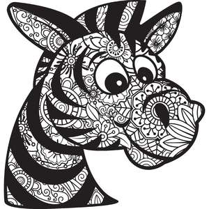 zebra zentangle