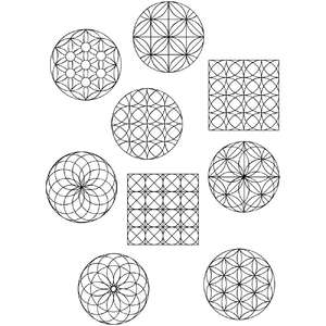 geometric pattern coloring stickers