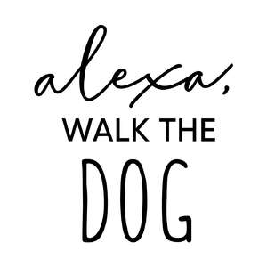 alexa, walk the dog phrase