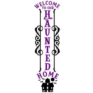 welcome haunted home vertical