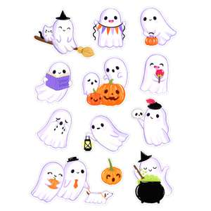 halloween kawaii ghost stickers