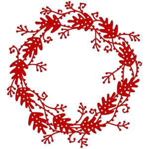 oak leaf vine wreath frame