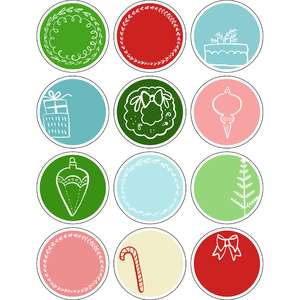 ml christmas circle tags stickers