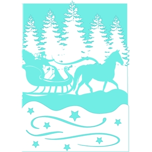 sleigh ride tri-fold card
