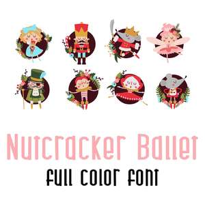 nutcracker ballet full color font