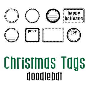 christmas tags doodlebat