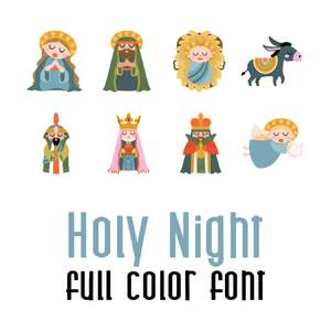 holy night full color font