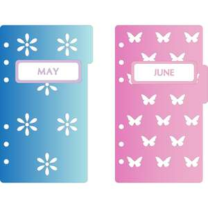 6-ring a6 binder may & june dividers