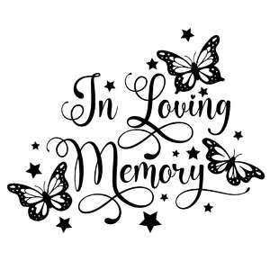 in loving memory butterfly quote