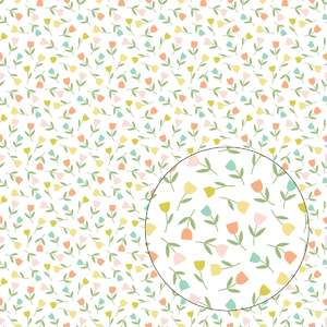 little tulips flowers seamless pattern