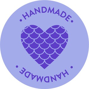 handmade mermaid heart sticker