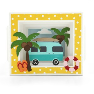 shadow box card surf van