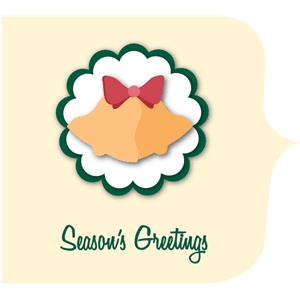 season's greetings christmas card kit