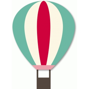 layered hot air balloon