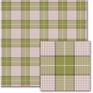 green, brown & raspberry plaid