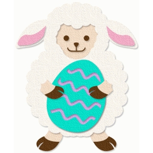 easter lamb with egg