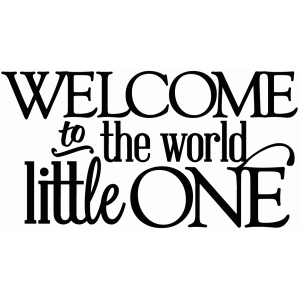 welcome to the world, little one - vinyl phrase