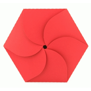 lori whitlock hexagon petal fold card