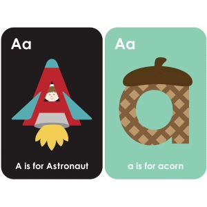 letter 'a' flashcard