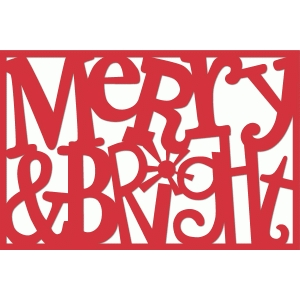 merry & bright 4x6 word art